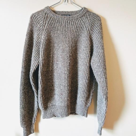 Lord & Taylor Sweaters - Lord & Taylor   Grey Wool Crew Sweater